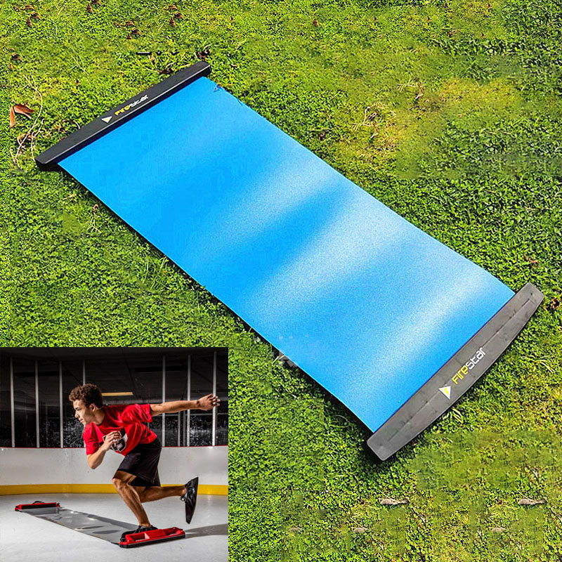 Slide Board High Quality Blue Portable Set Suit for Ice Hockey Roller Skating Training Home Fitness Exercise Accessories
