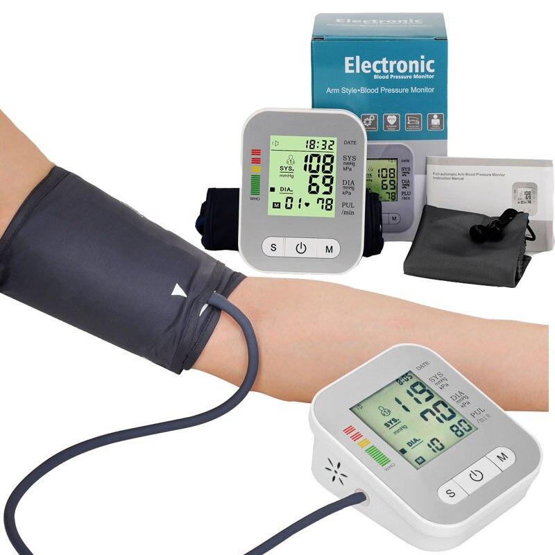 Gesundheit Amy Blutdruck meter Monitor Voll-automatische Puls maschine Herzschlag Test Oberen Arm Messen Blutdruckmessgerät Tonometer