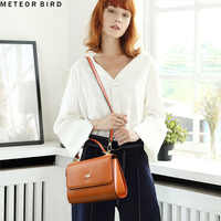 Meteor bird ladies luxury handbag women famous brand designer messenger bag shoulder leather crossbody bag tote