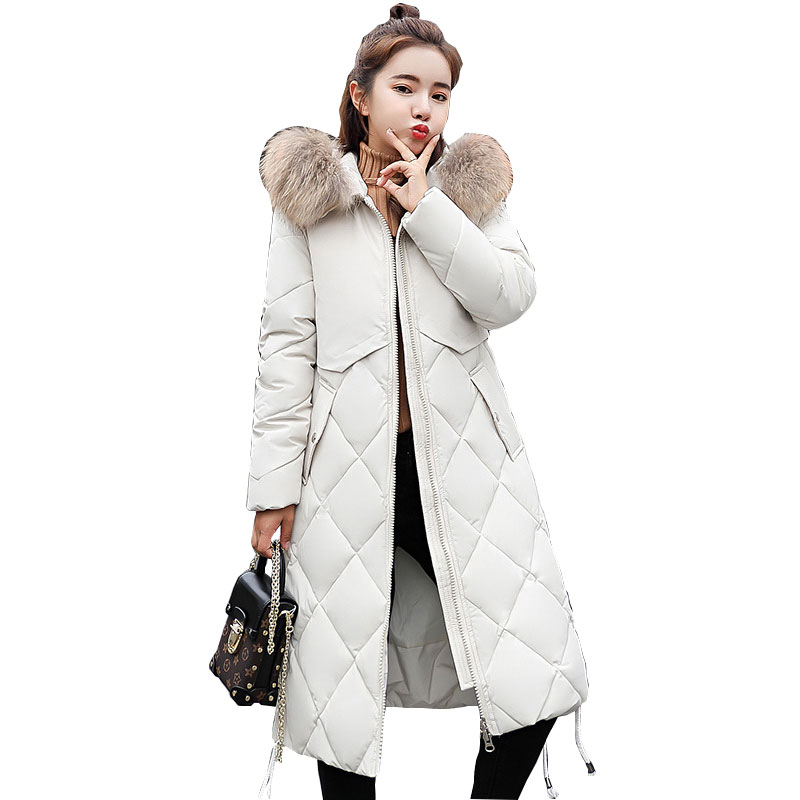 Fur Collar Hooded Winter   Down     Coat   Jacket Thick Warm Loose Casaco Feminino Abrigos Mujer Invierno Cotton padded Wadded Parkas 28
