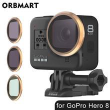 レンズフィルター移動プロヒーロー 8 黒 cpl 偏光 nd フィルターマクロレンズ uv 磁気フィルターカメラ用レンズプロ 8