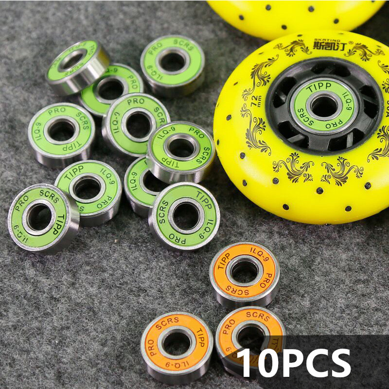 10PCS PRO Slalom SEBA LIQ-9 Skating Bearing Speed Skate Ball Bearing Roller Skates