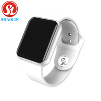 New Bluetooth Smart Watch Wearable Devices Sync Notifier Support Facebook for Apple Ios Iphone Android Phones (Red Button)