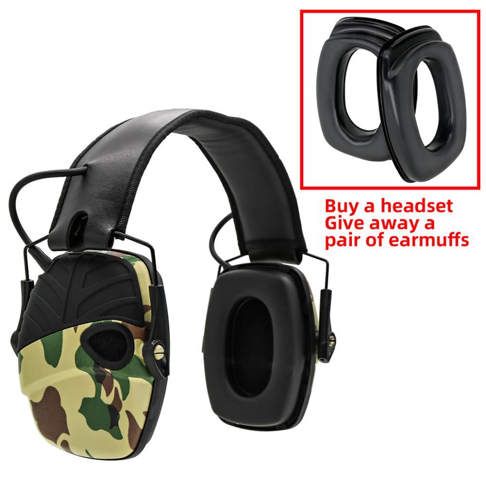 Электронный наушник, тактическая гарнитура, анти-шум, звук, усиление, стрельба, охота, Защита слуха, защитные наушники
