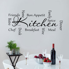 Kitchen Words Dinner Wine Bon Appetit Wall Sticker Quotes Wall Decals Vinyl Modern Art Home Decor Kichen Murals Removable 3520 travel agency office wall sticker vinyl interior home decor decals say hello to summer voyage murals removable wallpaper 3605