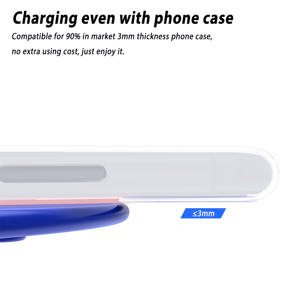 Image 2 - Wireless Phone Charger Mobile Phone Wireless Charge Pad QI Wireless Charger Compact MINI Chage pad for iPhone 11 Pro Max XiaomiWireless Chargers   -