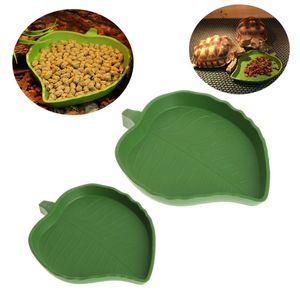 2 Pcs Leaf Shape Reptile Food