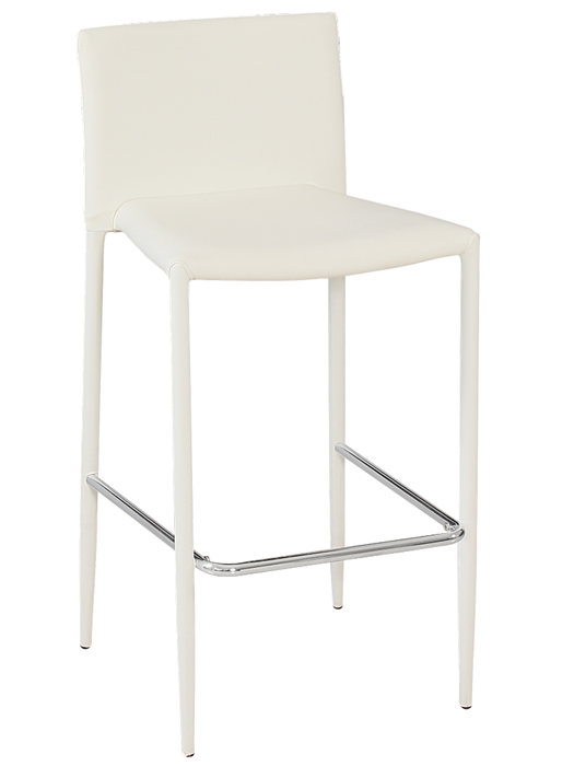 Stool ANNA, Stackable, Similpiel White