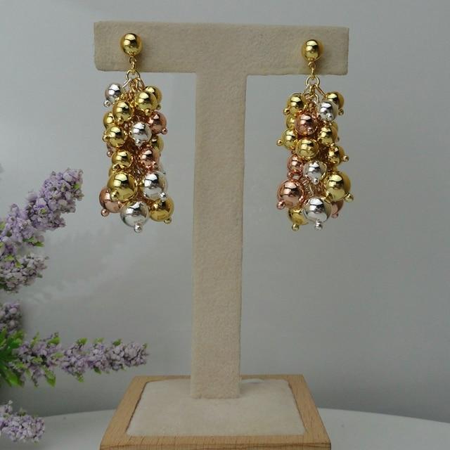 Yuminglai 24K Dubai Costume Earrings Brazilian Earrings for Women FHK7946