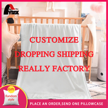 FYMX Custom Flannel Blanket Personalized Plush Blankets Soft Warm Bedding Children's Gifts Direct Delivery