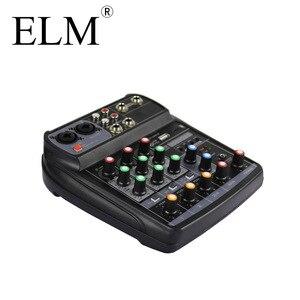 Image 5 - ELM AI 4 Karaoke mikser Audio konsola miksująca kompaktowa karta dźwiękowa konsola miksująca cyfrowy BT MP3 USB do nagrywania muzyki DJ