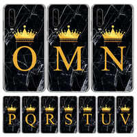 Crown Custom 26 Letter M Cover Phone Case for Huawei P40 P30 P20 Mate 30 20 10 Pro P10 Lite P Smart Z + 2019 Coque Shell Capa