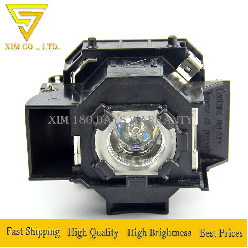 ELPLP44 V13H010L44 Projector Replacement Lamp with Housing for Epson EB DM2 EMP DE1 EMP DM1 EMP DM2 Moviemate 50 Moviemate 55 in Projector Bulbs from Consumer Electronics
