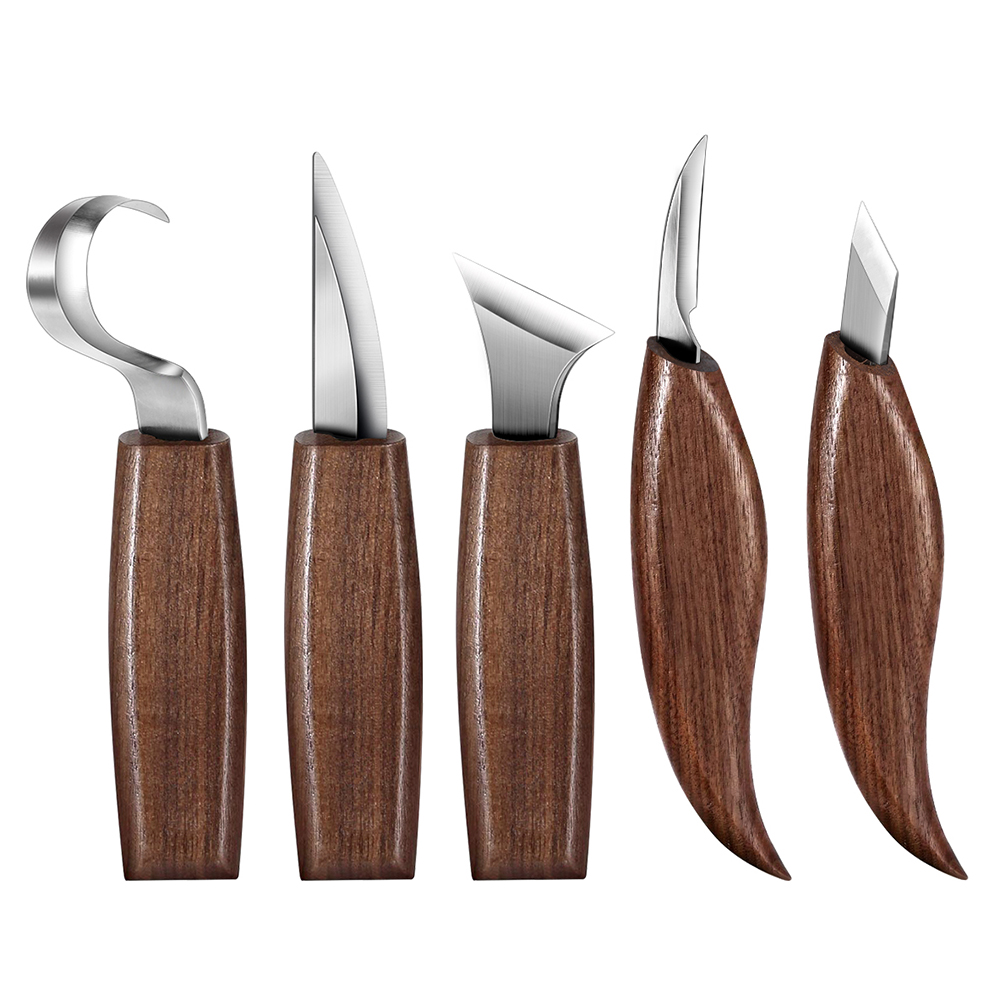 Spoon Carving Knife Woodcut DIY Hand Chisel Wood Carving Tools Woodcarving Cutter Chip Knives Woodworking Hand Tools