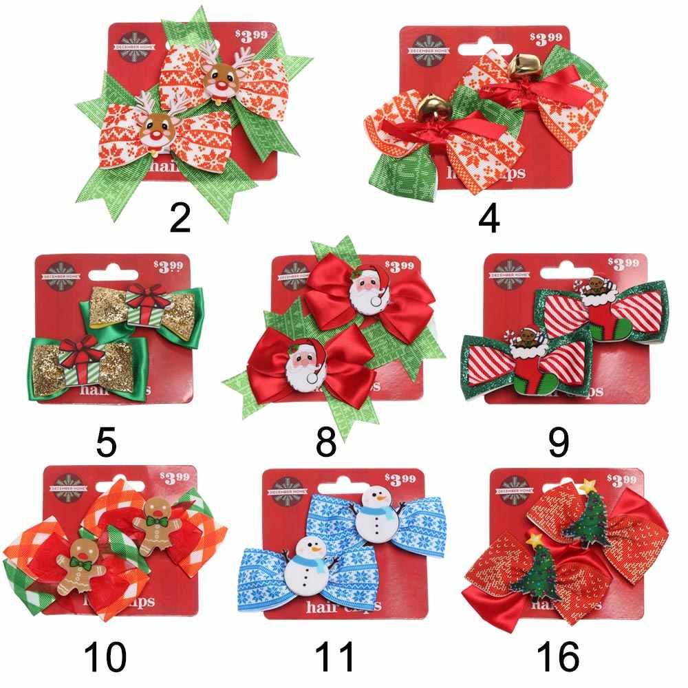 1PC קרן צבי סנטה קלאוס/איילים/Snowfake שיער קליפים פסטיבל קרן צבי יער אגוז סיכות סרט חג המולד חג המולד שיער אבזרים