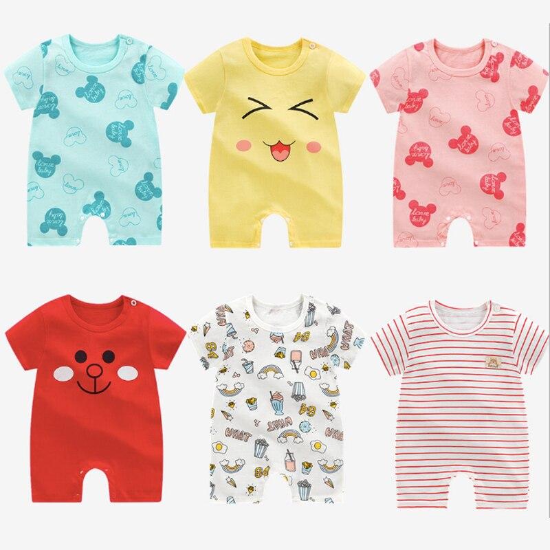 Baby Summer Baby Jumpsuit New Cartoon Baby Jumpsuit Unisex Newborn Pajamas Short Sleeve Boy Girl Clothes