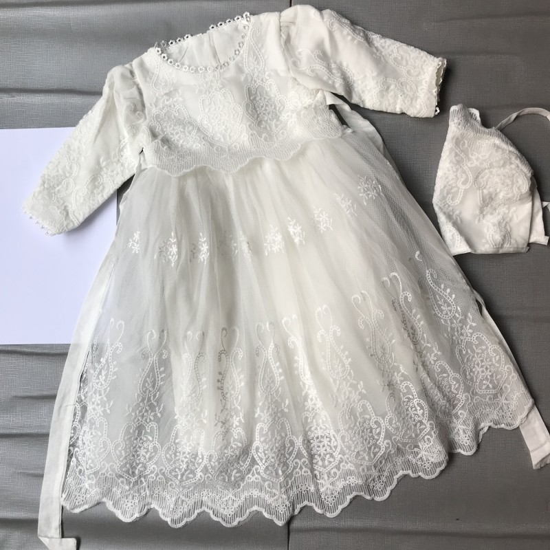 vintage Baby Girl Dress Baptism Dresses for Girls st year birthday party wedding Christening baby infant