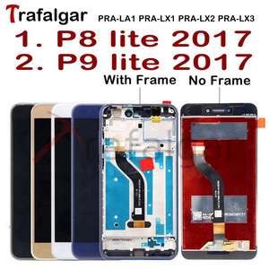 Image 1 - טרפלגר תצוגה עבור Huawei P9 לייט 2017 LCD תצוגת PRA LA1 LX1 מגע מסך עבור Huawei P8 לייט 2017 תצוגה עם מסגרת