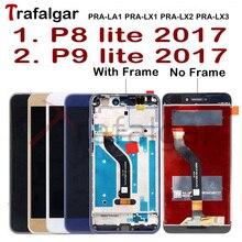 트라팔가 디스플레이 화웨이 P9 라이트 2017 LCD 디스플레이 PRA LA1 LX1 터치 스크린 화웨이 P8 라이트 2017 디스플레이 프레임