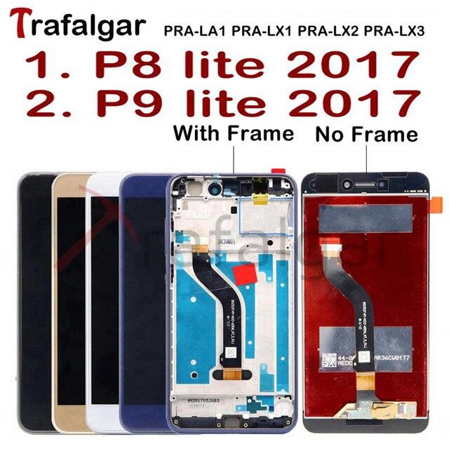 Trafalgar Display For Huawei P9 Lite 2017 LCD Display PRA LA1 LX1 Touch Screen For Huawei P8 Lite 2017 Display with Frame