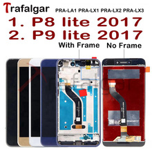 Trafalgar ekran için Huawei P9 Lite 2017 LCD ekran PRA LA1 LX1 için dokunmatik ekran P8 Lite ile 2017 ekran çerçeve