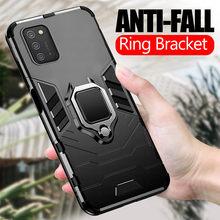 Para samsung a02s caso armadura carro magnético titular telefone capa para samsung galaxy a02s 6.5