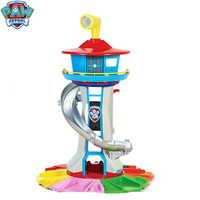 Paw Patrol Turm Hauptsitz mit Musik Welpen Patrol Anime Patrulla Canina Spielzeug Übergroßen Watchtower Spielzeug für Weihnachten Geschenk
