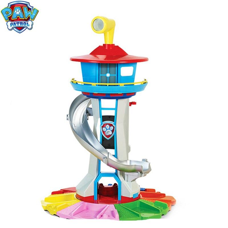 Quartier général de la tour de patrouille avec musique chiot patrouille Anime Patrulla Canina jouets surdimensionnés tour de garde jouets pour cadeau de noël