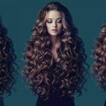 Peruca sintética do cabelo resistente ao calor das perucas de brown misturadas naturais