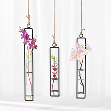 Flower Vase Terrarium-Ornaments Glass Living-Room-Decor Aesthetic Wall-Hanging Modern