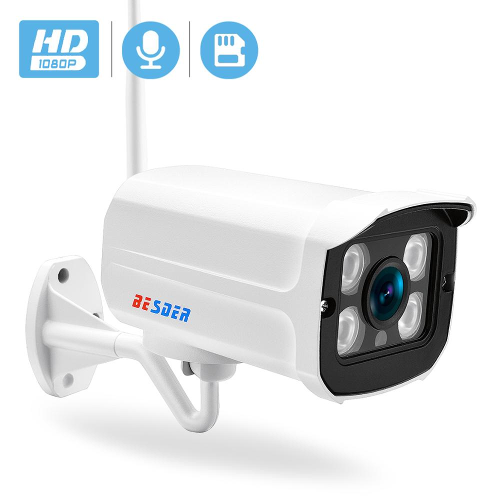 BESDER 1080P IP Camera Wifi 2MP Audio Email Alert Wireless CCTV Surveillance IR Night Vision Onvif Video Security Camera TF Card
