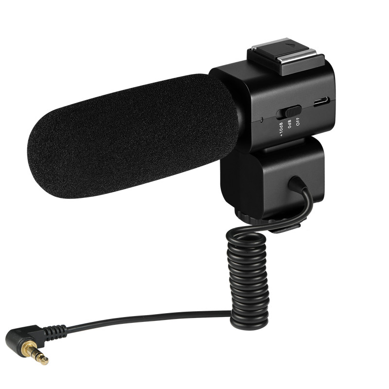 Ordro  Video Recording Microphone, Cardioid Directivity Vlog Microphone For DSLR Camera/DV Camcorder