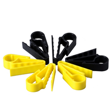 5 Pcs Yellow Plastic Golfer Cigars Cigarette Holder Clips Po