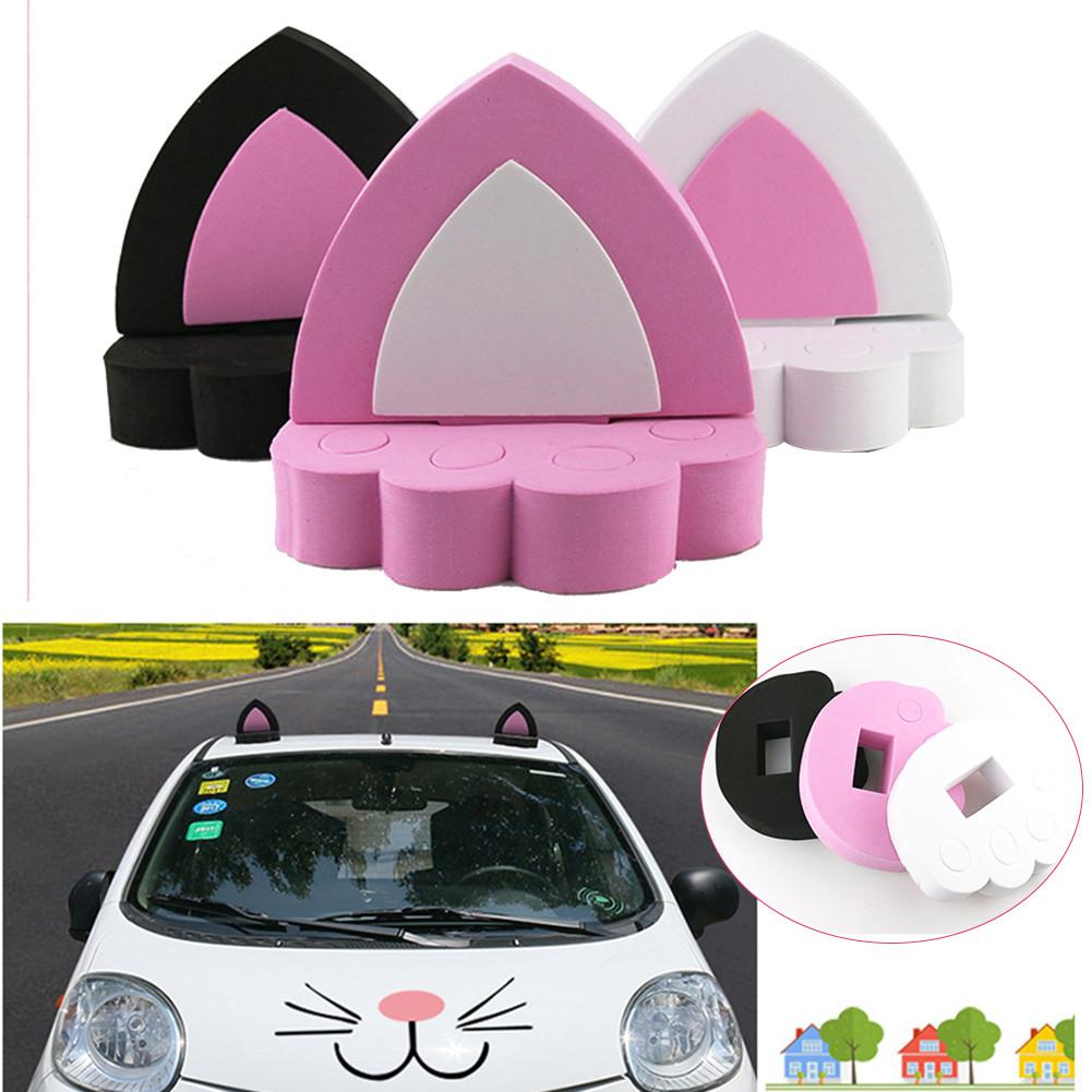 Car Cat Ear Stickers EVA Funny Toy For Car Roof Decoration A Pair Car Styling DIY Personality Decor|Car Stickers| |  - title=