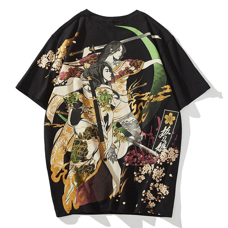 Trend t-Shirt,Cherry Blossom Petals Fashion Personality Customization