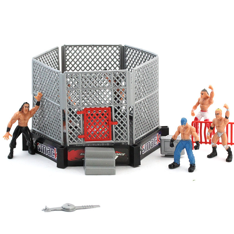 Wrestler WWE Ring Scene Figure Model Set Gladiator Decoration Children'S Educational Assembled Toys Wholesale