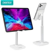 CHOETECH uchwyt na Tablet do ipada Pro Air Mini regulowany aluminiowy uchwyt na biurko do telefonu iPhone Samsung Tab