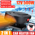 12V 500W 4 in 1 Car Heater Cooler Fan Car Dryer Windshield Demister Defroster for Car Truck Van