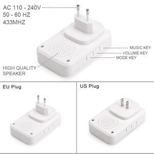 Image 5 - GERMA 자체 전원 홈 방수 무선 초인종 배터리 없음 LED 라이트 200M 홈 벨 38 멜로디 4 레벨 볼륨 도어 벨