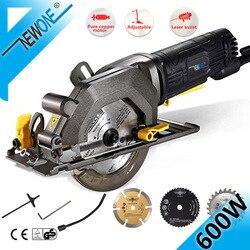 NEWONE Elektrische Mini Kreissäge Mit Laser Für Cut Holz, PVC rohr, 15 stücke Discs, 230V Multifunktionale Elektrische Säge DIY Power Tool