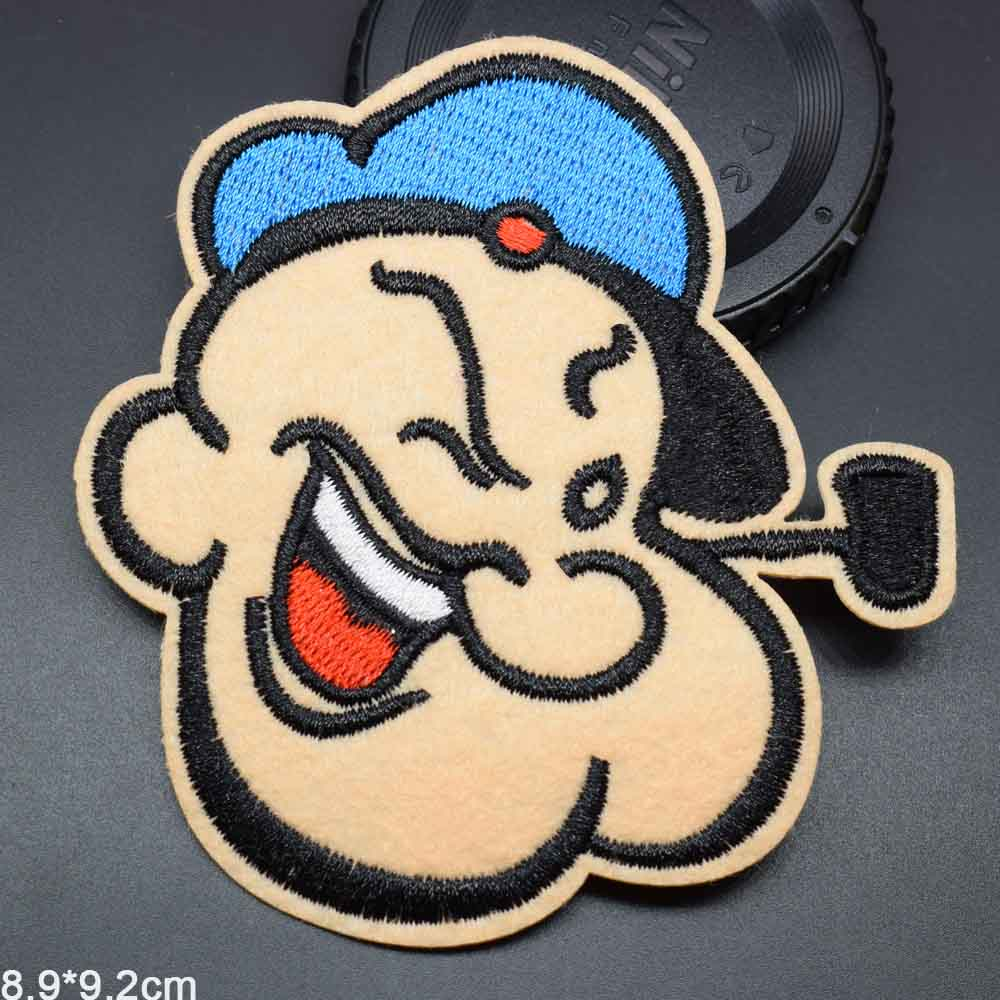 US $0 43 OFF Cartoon Iron On Lovely Popeye The Sailor Embroidered Cloth Patch For Girls Boys 8 9cm Embroidered Cloth Patches Cloth Patchpatch For