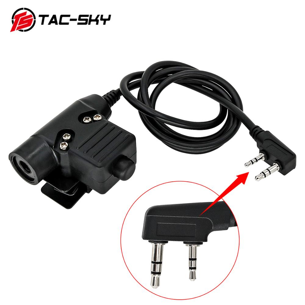 TAC-SKY PTT U94 New Upgraded U94 Ptt Tactical Headset Walkie-talkie Adapter Kenwood Plug Ptt Tactical Ptt U94