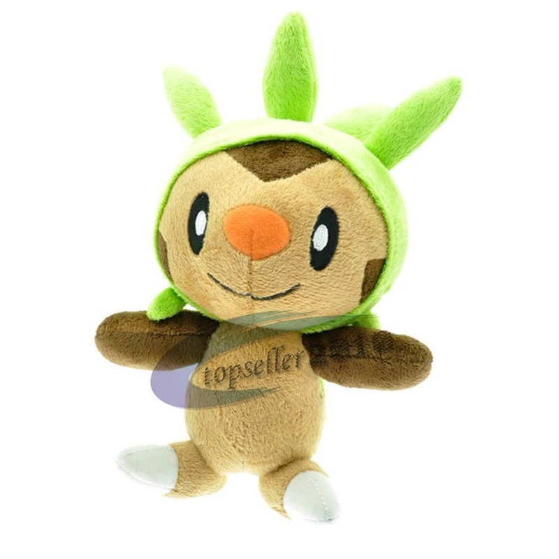 takara-tomy-font-b-pokemon-b-font-15cm-cute-cartoon-anime-mini-chespin-plush-doll