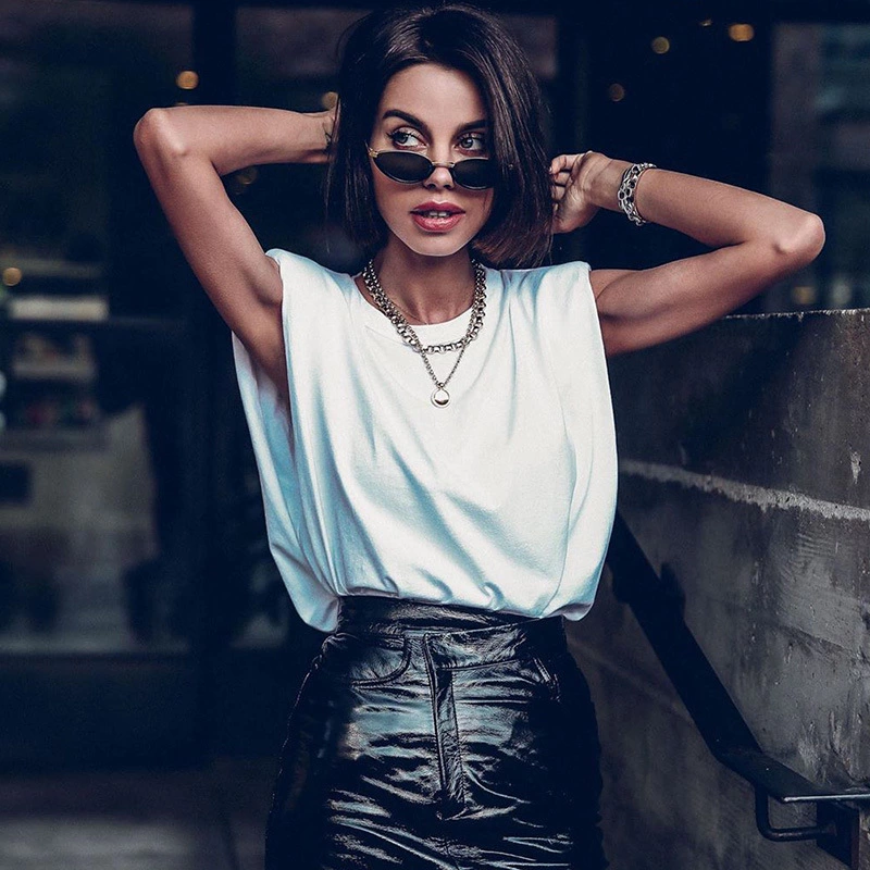 Women Summer Sleeveless Tops Female O Neck White Women Blouse Shirt Ladies Loose Solid Chic Casual Blouses Black Cotton Blouse(China)