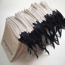 """코 튼 리본 보석 선물 가방 8x10cm(3 """"x 4"""") 9x12cm 10x15cm(4 """"x 6"""") 13x17cm 머리 속눈썹 메이크업 Drawstring 파우치"""