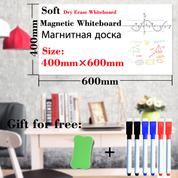 Magnetic Whiteboard 400mmx600mm Fridge Stickers Dry Earse White Board Home Kitchen Message Boards Writing Sticker Magnets 4pcs lot flexible fridge magnets whiteboard kids reusable drawing writing message board note pad refrigerator magnetic sticker