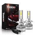 Белый Автомобильный светодиодный светильник, 2 шт., 6000k, обзор на 360 градусов, H7 110 Вт, 200 лм, Cob, светодиодный автомобильный головной светильник ...