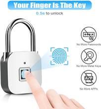 Cadeado da impressão digital, fechadura biométrica esperta da impressão digital para o ginásio, armário da escola, bagagem, bicicleta, uso interno e exterior