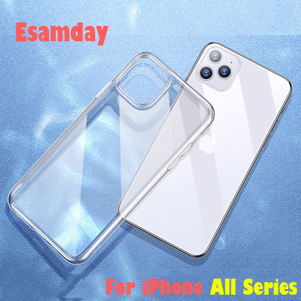 Luxe Clear Soft TPU Case Voor iPhone 11 Pro Max 7 8 6 6s Plus 7Plus 8Plus X XS MAX XR Transparant Phone Case Voor 5 5s SE 6sPlus 5