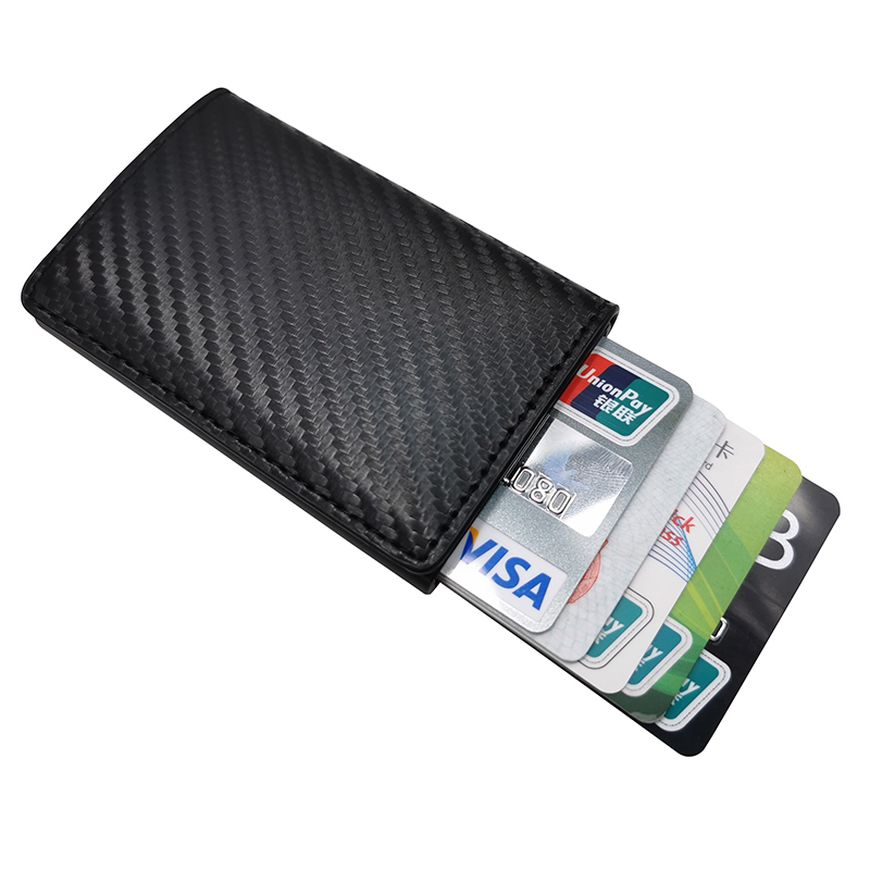 1 Pcs Office Men Credit Card Holders Business ID Card Case Fashion Automatic RFID Card Holder Aluminium Bank Card Wallets